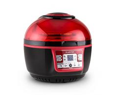 Klarstein VitAir Turbo Heißluftfritteuse Fritteuse (1400 Watt, 9 Liter Garraum, fett-frei Frittieren, Backen, Grillen, Rösten) rot-schwarz