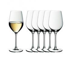 WMF easy Plus Weißwein Weingläser-Set, 6-teilig, 390ml, Kristallglas, spülmaschinenfest, transparent