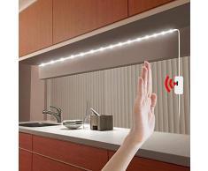 DC 5 V Lampe USB Motion LED Hintergrundbeleuchtung LED TV Küche LED Streifen Hand Sweep On Off Sensor Licht Diode Lichter wasserdicht, Handkehrer Weiß, 0,5 m