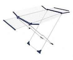 CASASI XL Wäscheständer Eflex Ultra - mehrfach ausziehbar und klappbar mit Rollen