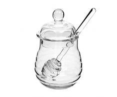 BESTONZON 250 ml Glas Honig Topf klar Marmelade Jar Set mit Dipper und Deckel für Home Küche verwenden