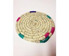 Marokkanische Tajine Untersetzer Talor 25cm | Topfablage aus Korbgeflecht Handgefertigt | Naturfarbe | ORIGINAL handgearbeitet aus Marokko