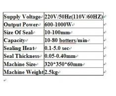 GOWE 1000 W Max Tragbarer Induktionskochplatten Vakuumierfolie 10-100mm