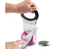 Signstek Zwiebelhalter / Schneidhilfe Küchenhelfer mit Seife aus Edelstahl