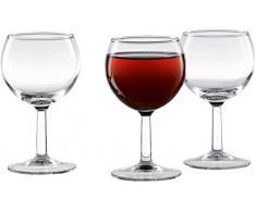 6 x 0,25 l Weinglas / Weinkelch / Beistellglas / Wasserglas / Rotweinglas, klar | Füllstrich bei 0,2 l