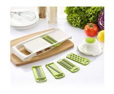VWH Multi Schneider Gemüsehobel und Reibe Handschutz küchenreibe Raspel Hobel für schneide, hacke, würfle, reiben und julienne