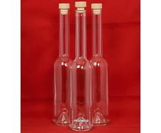 6 Leere Glasflaschen 500 ml OPI-HGK Flaschen Leere Glasflasche mit Griffkorken zum selbst Abfüllen 0,5 Liter l Likörflaschen 500ml Schnapsflaschen Essigflaschen Ölflaschen von slkfactory