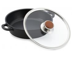 Berndes 047245 Private Collection Leather Schmorkasserolle mit Glasdeckel 24 cm