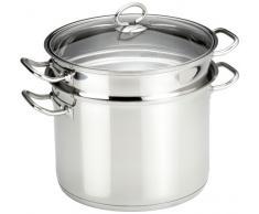 Küchenprofi Pasta Topf 24cm in Silber, Edelstahl, 24 cm
