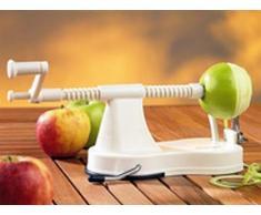 Apfelschäler weiß - Äpfel in Sekunden perfekt schälen und schneiden!