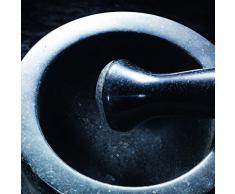 Cole & Mason H100279 Stößel und Mörser aus Granit 14 cm, schwarz