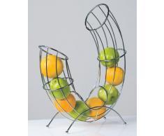 DESIGN OBSTKORB PIPE von XTRADEFACTORY Früchtekorb Obst Schale verchromt
