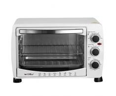 WOLTU BF09ws Mini Backofen 20 Liter Pizzaofen Glastür mit Backblech mit Timer 100-250°C 1400 Watt Weiß