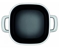 Silit Quadro Black Kochtopf quadratisch 22cm, Glasdeckel, Bratentopf 4,4l, Silargan Funktionskeramik, stapelbar, Topf Induktion, schwarz