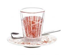 Ritzenhoff 2600006 Espressoglas mit Untertasse Rashid F11