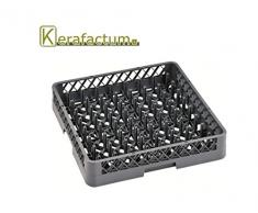 Kerafactum® - Spülkorb Korb mit 64 Finger für Teller und Tabletts für die Gastro Spülmaschine Spülmaschinenkorb universal aus Kunststoff 50x50 cm grobaschig und erweiterbar - all purpose rack