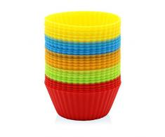 GOURMEO® 25 Muffinförmchen in 5 Farben, wiederverwendbar, hochwertiges Silikon, umweltschonend - Cupcakeförmchen, Backförmchen, Cupcake Muffinform