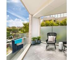 Relaxdays, weiß Hängetrockner, Wäschetrockner zum hängen für Heizkörper u. Balkon, klein, Wäschehalter, 3m Trockenlänge