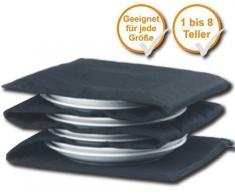 Tellerwärmer, wärmt 1-8Teller, Wärmefläche pro Teller ca. 30x30cm (Tellervorwärmer, schwarz)