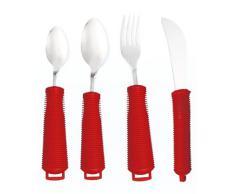 4-teiliges Küchenutensilien-Set mit Komfortgriff Rot Griffe für Alzhemiers Demenz und mehr