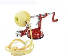 Schäler Apfel/Kartoffel Schälmaschine 3 In 1 Multifunktions-Hand Schäler Schneiden Obst/Geschält / Geschnitten Küche Verschiedene Obst Und Gemüse (Rot)