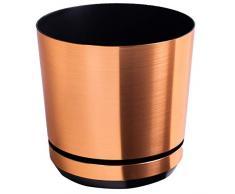KORAD Blumentopf/Übertopf Kupfer 26 cm - Pflanzkübel aus Hochwertiger Kunststoff - Dekorativer Topf für Pflanzen 26/121