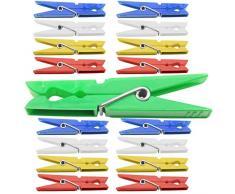 120 Stück farbige Wäscheklammern 70mm Wäsche Klammer Kunststoff Klammern Feder