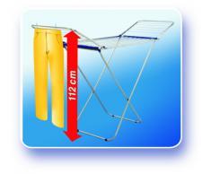 Leifheit Standtrockner Classic Siena 180 Easy Aluminium, robuster Wäscheständer für drinnen und draußen, Flügelwäschetrockner mit 18m Trockenlänge für 2 Waschmaschinenladungen Wäschetrockner