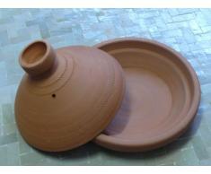 Marokkanische Tajine zum Kochen unglasiert ø 25 cm für 2 Personen