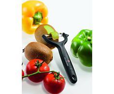 Victorinox Tomaten-/ Kiwischäler mit Zackenschliffklinge, Zweischneidig, Rostfrei, Edelstahl, Spülmaschinengeeignet, schwarz