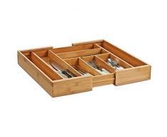 Zeller 25277 Besteckkasten, ausziehbar, Bamboo 35-58 x 43 x 6,5 cm
