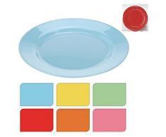 Campingteller Picknickteller Speiseteller Teller aus Melamin 6 teilig Ø ca. 20 cm mit 6 Farben
