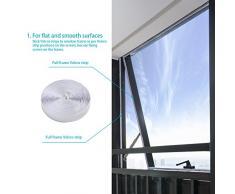 HOOMEE 400CM Fensterabdichtung Für mobile Klimageräte, Klimaanlagen, Abluft-Wäschetrockner, Ablufttrockner, Trockner, Bautrockner, Luftentfeuchter   AirLock Für Fenster, Dachfenster, Kippfenster