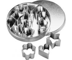 Birkmann 10106352C00000110 Ausstechform, Stahl, grau, 4 x 4 x 5 cm