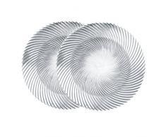 Spiegelau & Nachtmann, 2-er Set Platzteller, Kristallglas, Samba, Größe: 32 cm, 008993-0