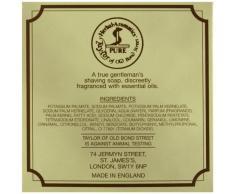 Taylor of Old Bond Street Rasierseife 100 g Luxus-Holzschale Sandelholz pflanzliche Rasierseife