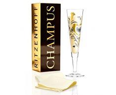 RITZENHOFF Champus Champagnerglas, Kristallglas, Gold, Platin 7 cm