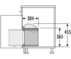 Hailo 3515001 Abfallsammler MO Swing 40.1/15 w Schränke ab 400 mm Breite mit Drehtür