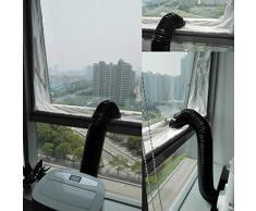 Vovotrade 400CM Fensterabdichtung Für Mobile Klimageräte, Klimaanlagen, Abluft-Wäschetrockner, Ablufttrockner, Trockner, Bautrockner, Luftentfeuchter AirLock Für Fenster (Weiß, 400cm)