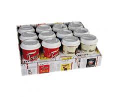 Genérico Keramik Tasse Kaffee mit Deckel