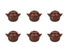 GMMH Kochtopf Auflaufform Keramik Topf Töpfe Set 6 Stück (Blume)