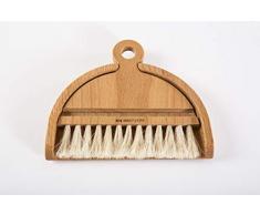 Holz-Leute Tischbesen-Set - Krümelbürste Tischbesen Tischkehrer Tischdecken-Bürste