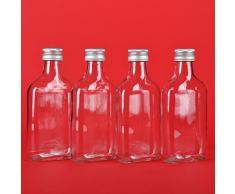 20 leere Glasflaschen 100 ml TASCHI mit Schraubverschluss zum selbst Abfüllen 0,1 Liter l Likörflaschen Schnapsflaschen Essigflaschen Ölflaschen von slkfactory