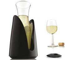 Vacu Vin Aktiv schwarz mit Deckel Kühlkaraffe, 15x 15x 29cm