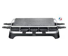 Tefal PR4578 Pierrade Raclette für 10 Personen mit abnehmbarer Grillplatte, 1350 W, schwarz / edelstahl