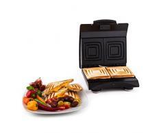 Klarstein Sandwich Buddy Retro Sandwichmaker Doppel Sandwichtoaster (700W, 2 Heizflächen, Edelstahl) rot