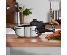 VonShef Edelstahl Schnellkochtopf 3 Liter oder 6 Liter, geeignet für alle Kochflächen (3 Litre)