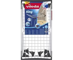 Vileda King Wäscheständer, 20 m Trockenleinenlänge, extradicke Trockenstäbe, Kleinteilehalterung