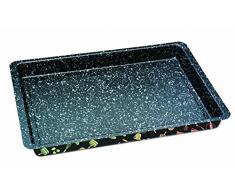 STONELINE 16071 Backblech extra tief, antihaft mit Prisma-Effekt Backform, Karbonstahl, mehrfarbig, 42 x 29 cm