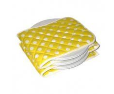 Hot Ideas Elektrischer Tellerwärmer - 12Teller Gelb-weiße Flecken (EUR stecker)